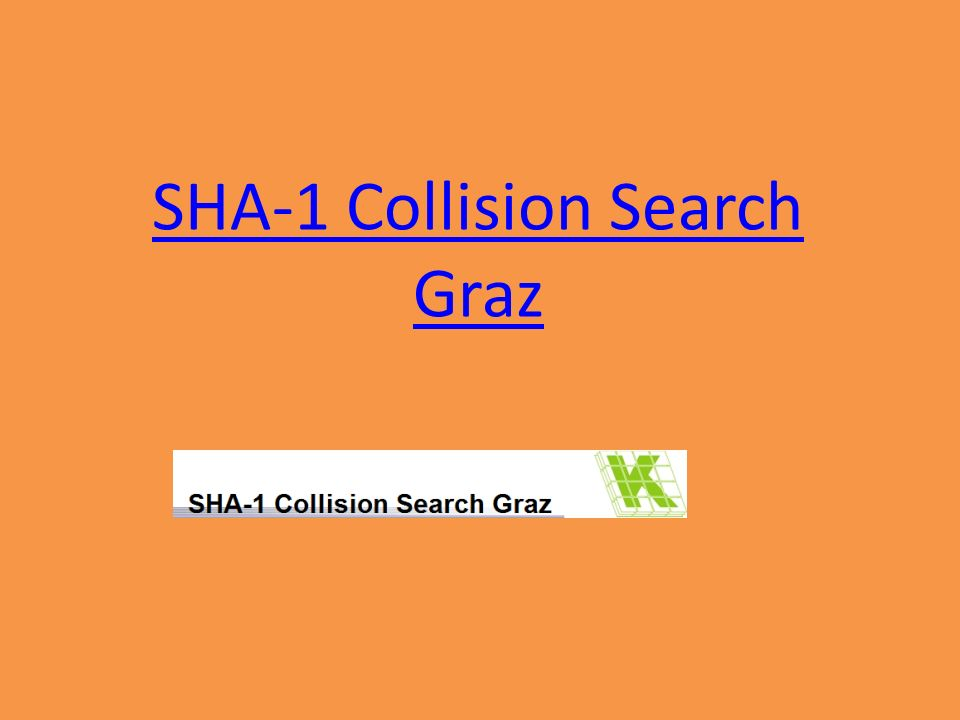 SHA-1 Collision Search Graz