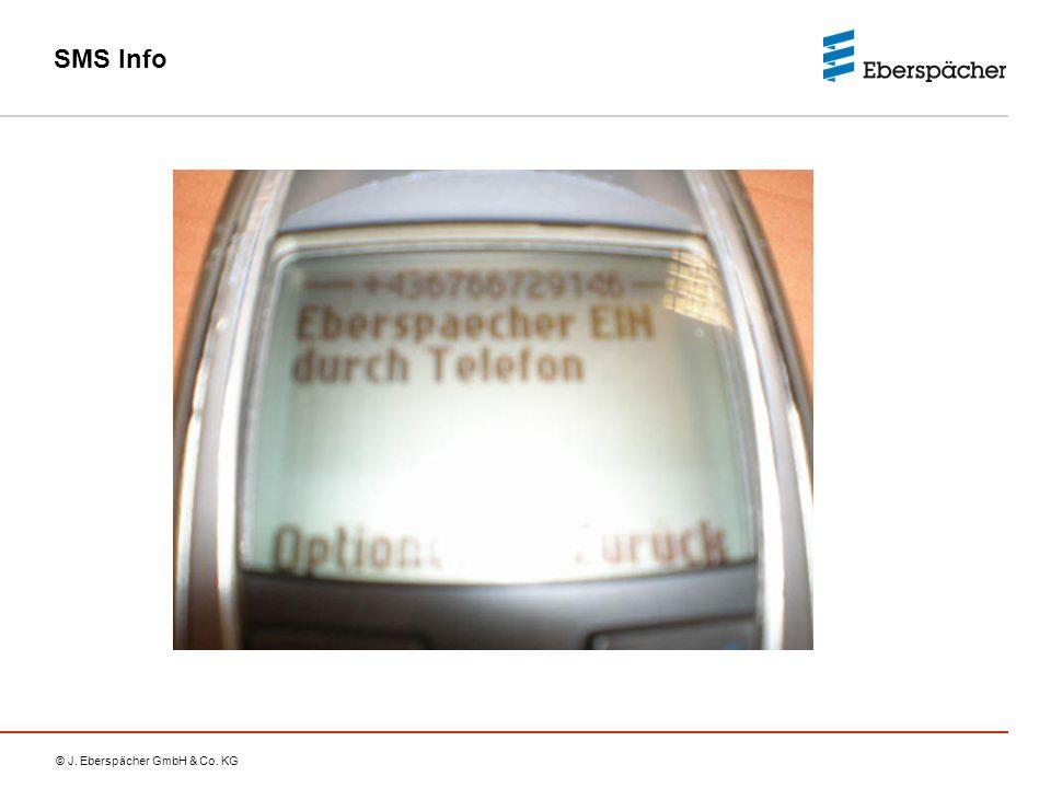© J. Eberspächer GmbH & Co. KG SMS Info