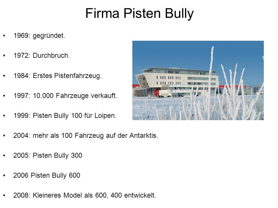 Firma Pisten Bully 1969: gegründet.1972: Durchbruch.