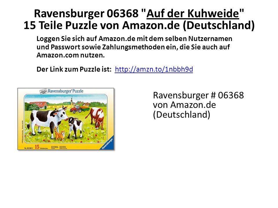 Loggen Sie sich auf Amazon.de mit dem selben Nutzernamen und Passwort sowie Zahlungsmethoden ein, die Sie auch auf Amazon.com nutzen.