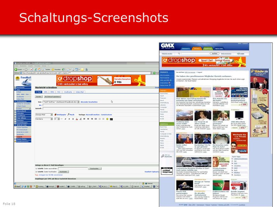 Folie 18 Schaltungs-Screenshots
