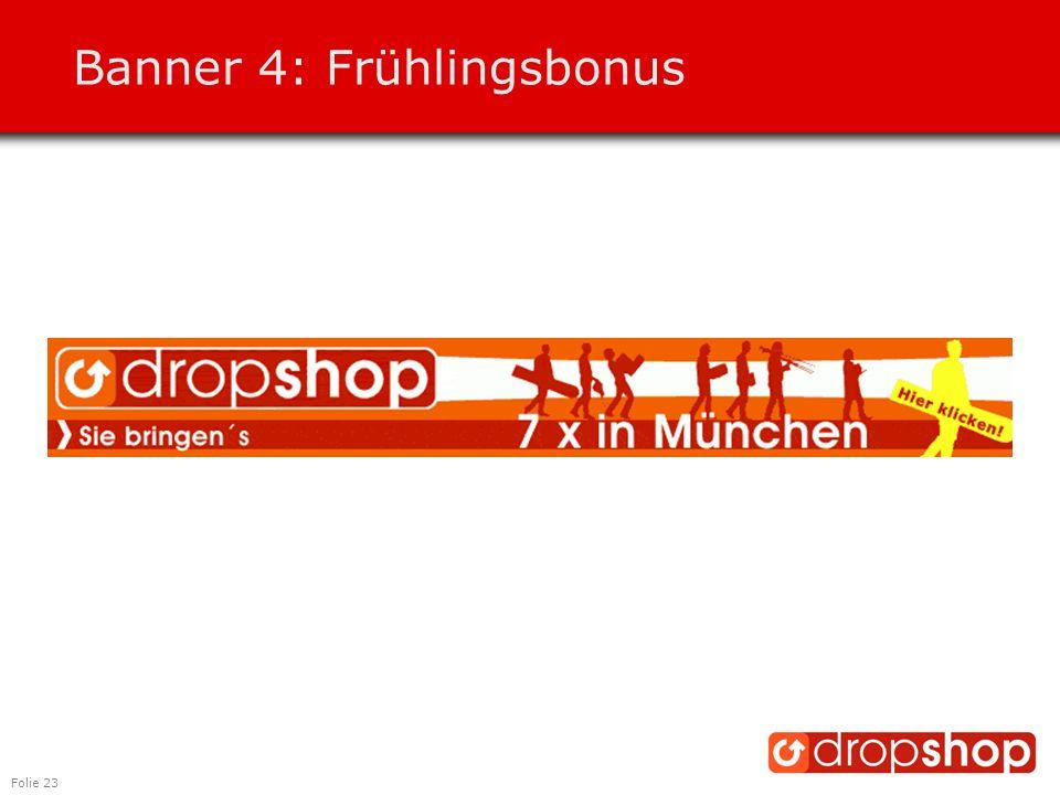 Folie 23 Banner 4: Frühlingsbonus