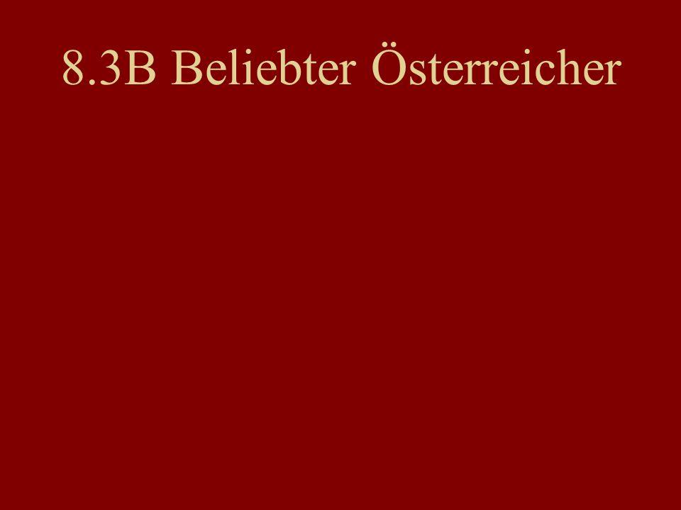 8.3B Beliebter Österreicher
