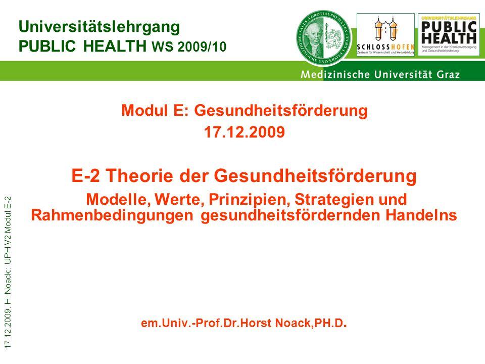 17.12.2009.H. Noack:: UPH V2 Modul E-2 2 Do 17.12.