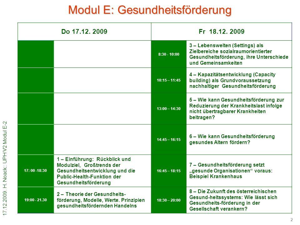 17.12.2009. H. Noack:: UPH V2 Modul E-2 2 Do 17.12.