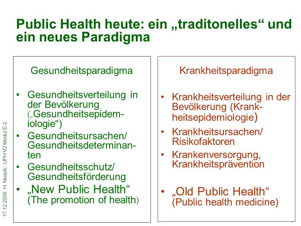17.12.2009.H. Noack:: UPH V2 Modul E-2 4 Was ist Gesundheitsförderung.