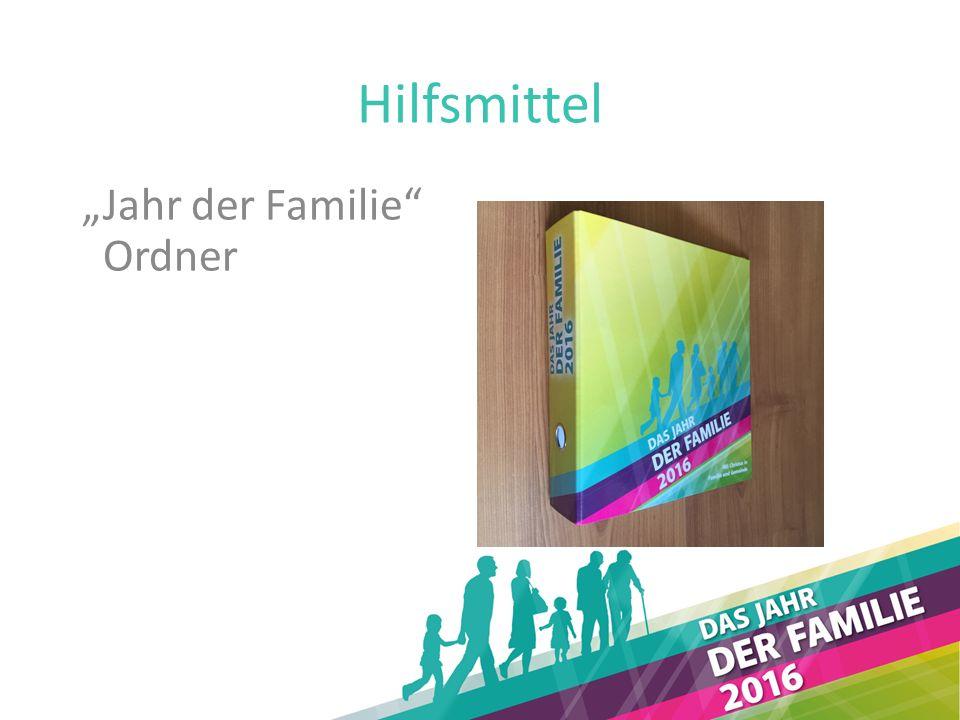 """Hilfsmittel """"Jahr der Familie Ordner"""