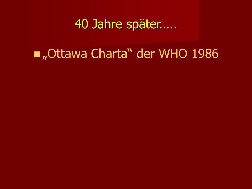 """40 Jahre später….. """"Ottawa Charta"""" der WHO 1986"""