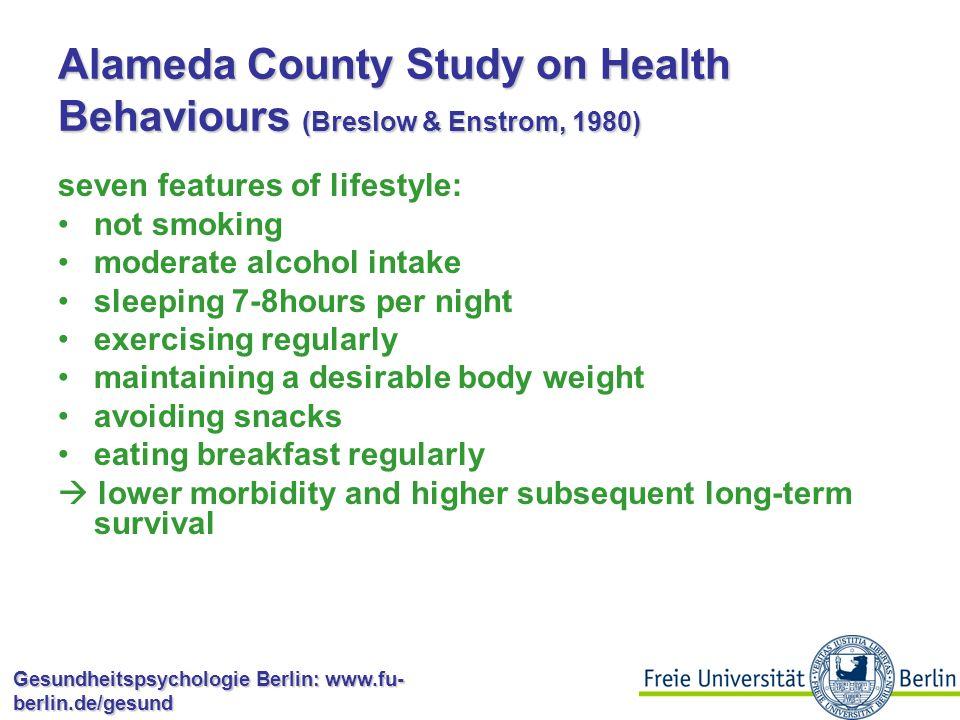 Gesundheitspsychologie Berlin: www.fu- berlin.de/gesund Einflussfaktoren für gesundheitsbezogenes Verhalten