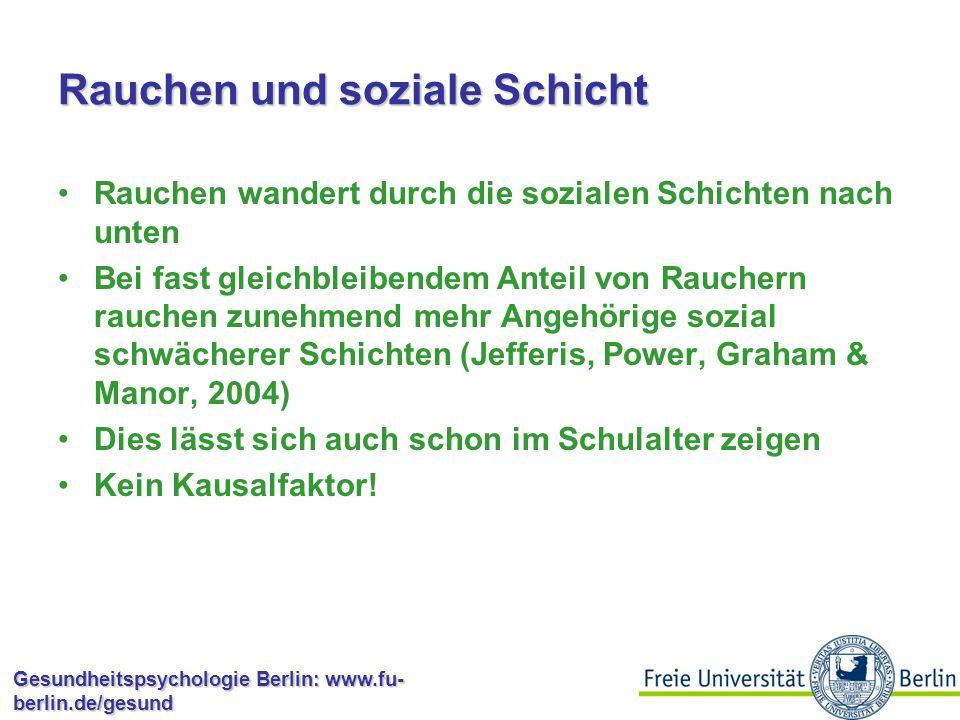 Gesundheitspsychologie Berlin: www.fu- berlin.de/gesund Anteil an der dt.