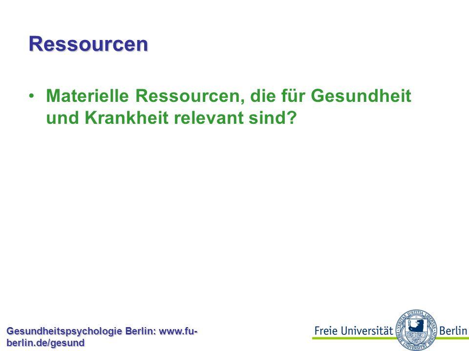 Gesundheitspsychologie Berlin: www.fu- berlin.de/gesund Persönlichkeitstypen 8 2 4 6 Typ I 10 0 Raucher Nichtraucher Lungenkrebstodesfälle in % andere Typen 12 14 16