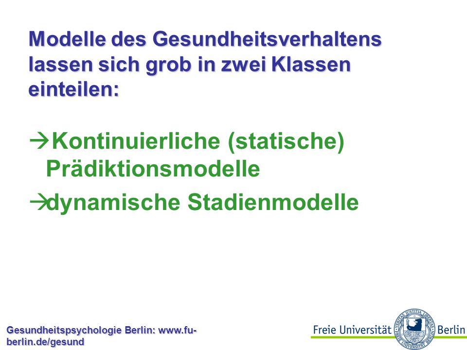Gesundheitspsychologie Berlin: www.fu- berlin.de/gesund Volition Volition bezieht sich auf die gewollte Umsetzung einer Intention in eine Handlung.