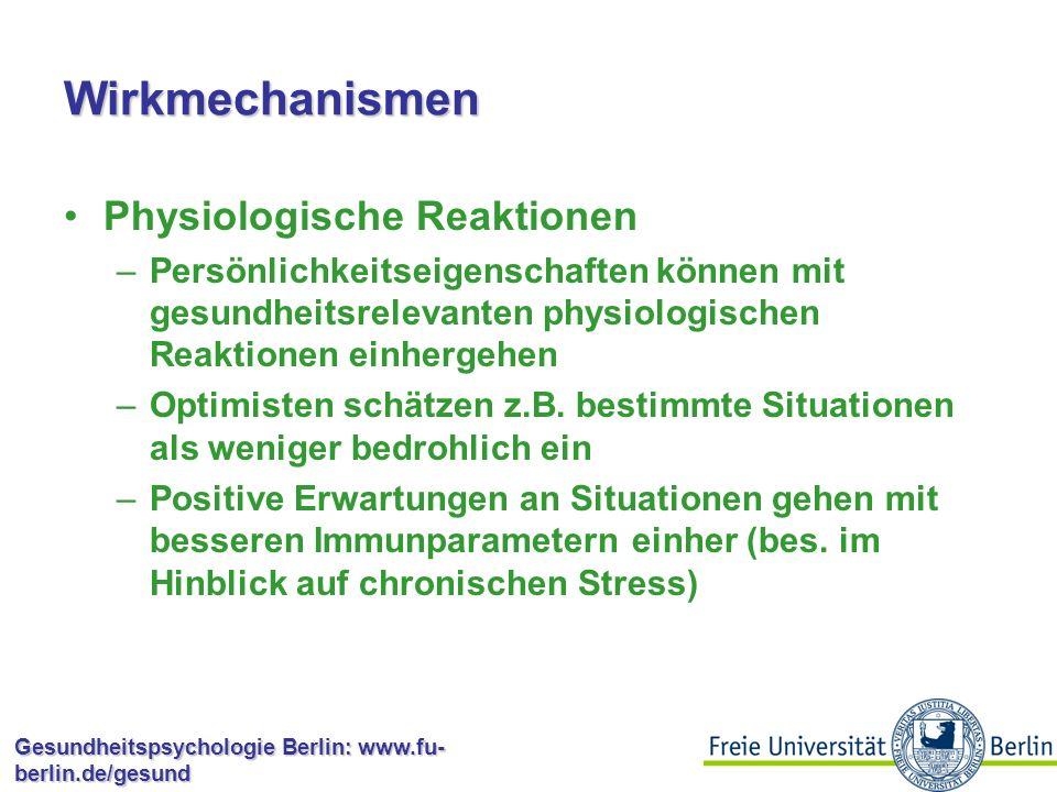 """Gesundheitspsychologie Berlin: www.fu- berlin.de/gesund Persönlichkeit und Verhalten """"Sensation seeking : Stabiles Persönlichkeitsmerkmal, das Bedürfnis nach Stimulation beschreibt Facetten: Gefahren suchen, Nonkonformität, Enthemmtes Verhalten, Abneigung gegen Wiederholungen Risikoverhaltensweisen: –Risikosport –Gefährliche Sexualpraktiken –Riskantes Fahren –Drogen-/Alkoholmissbrauch"""