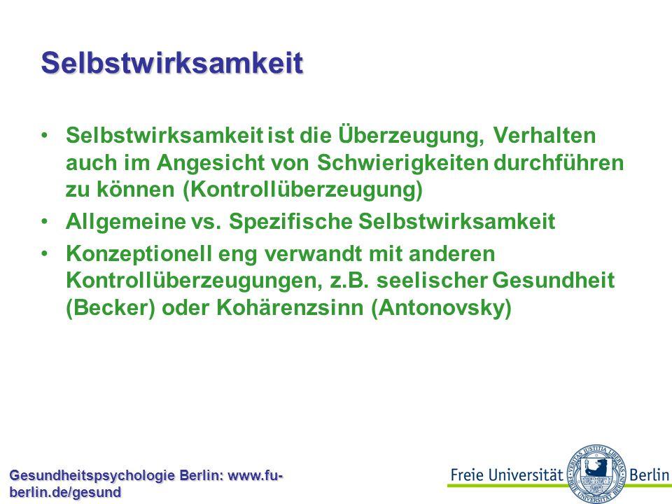 Gesundheitspsychologie Berlin: www.fu- berlin.de/gesund Wirkmechanismen Persönlichkeit als Haupteffekt? Interaktion: Persönlichkeit interagiert mit de