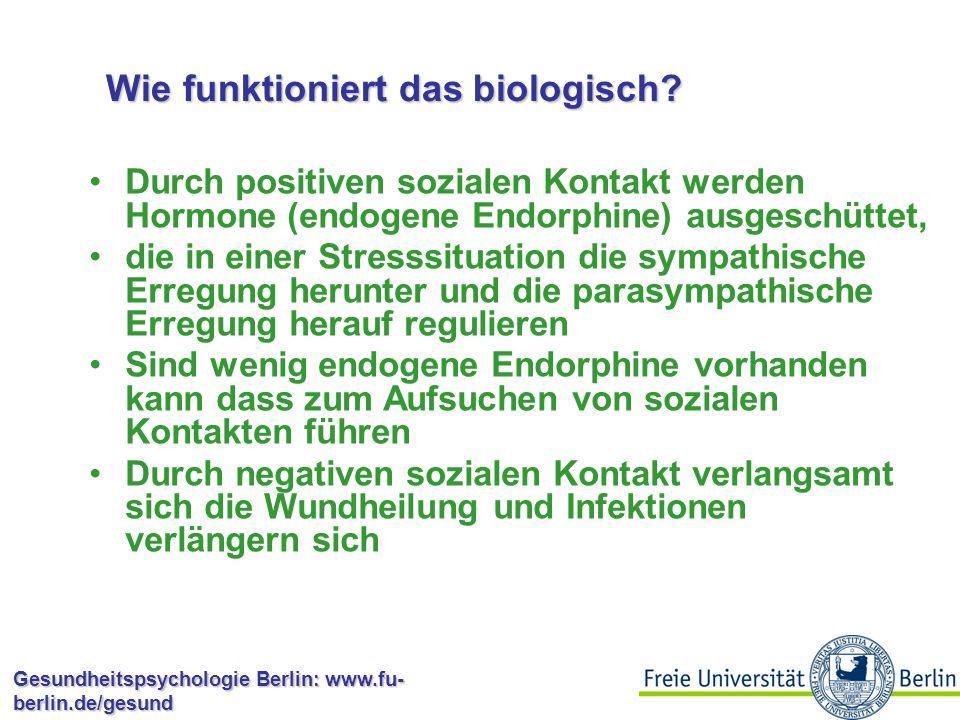 Gesundheitspsychologie Berlin: www.fu- berlin.de/gesund 9.