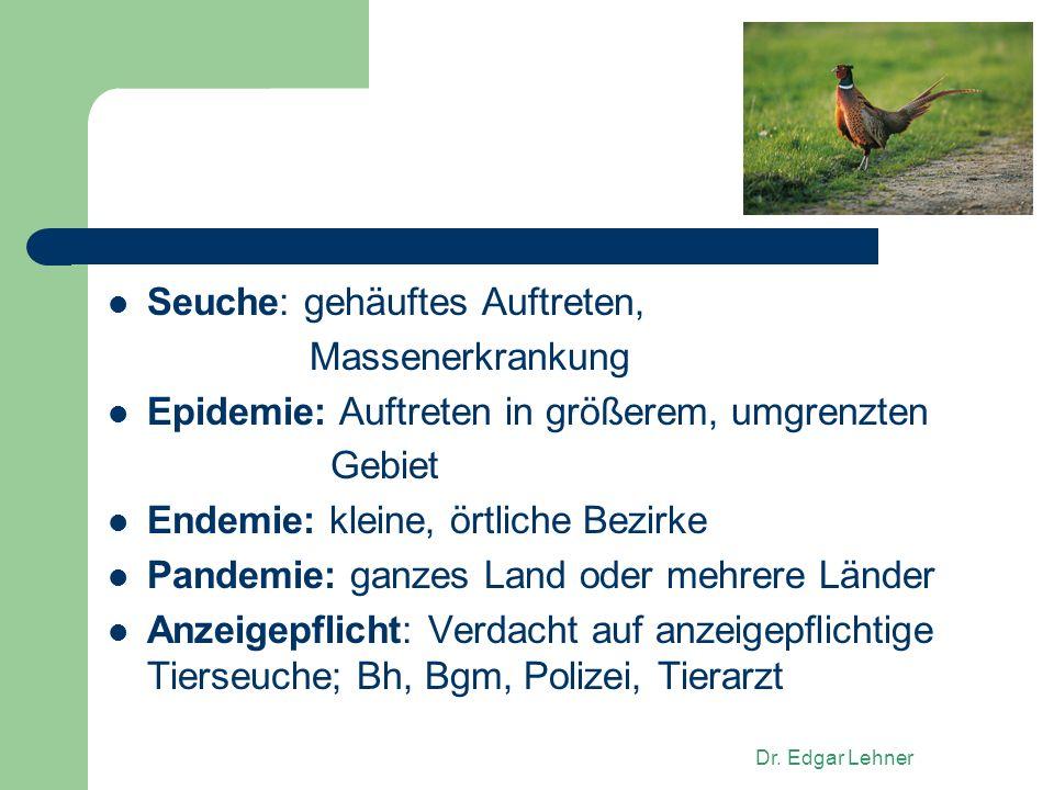 Zoonose: auf Menschen übertragbare Krankheit Inkubationszeit: Zeit von Ansteckung bis Ausbruch Immunität: Schutz nach überstandener Krankheit