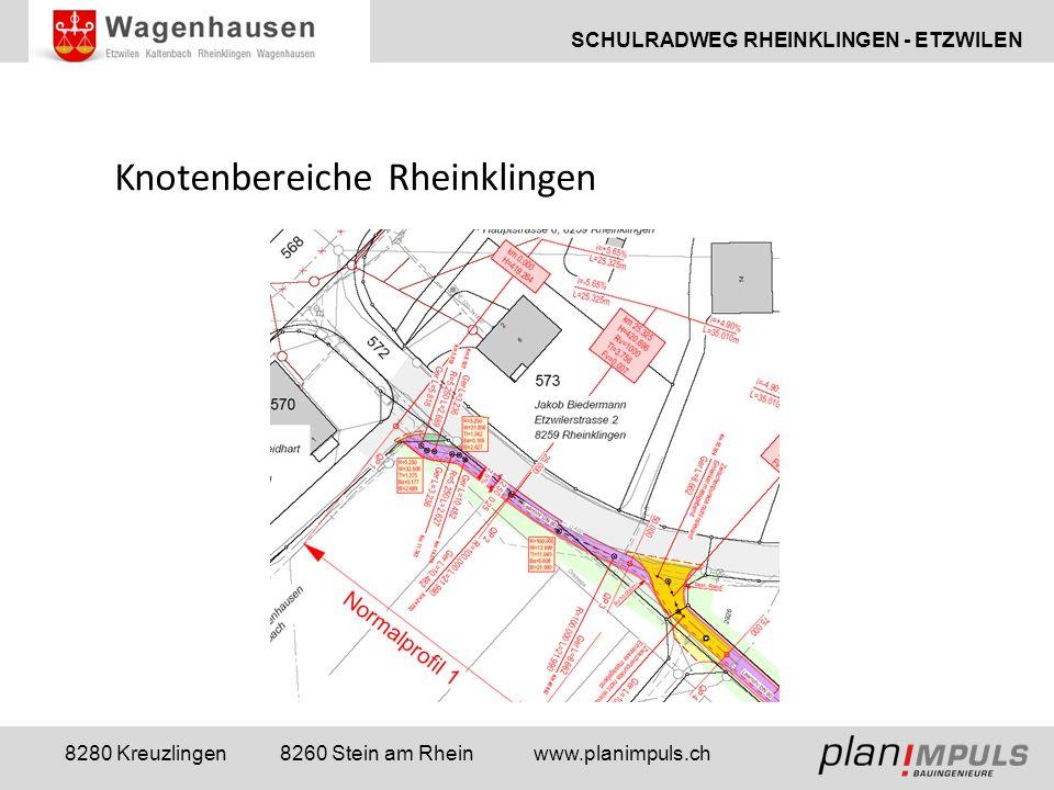 SCHULRADWEG RHEINKLINGEN - ETZWILEN 8280 Kreuzlingen 8260 Stein am Rhein www.planimpuls.ch Knotenbereiche Rheinklingen