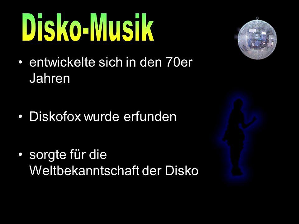 entwickelte sich in den 70er Jahren Diskofox wurde erfunden sorgte für die Weltbekanntschaft der Disko