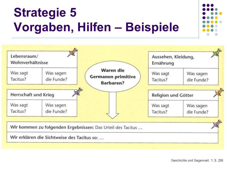 Strategie 5 Vorgaben, Hilfen – Beispiele Geschichte und Gegenwart, 1, S. 206