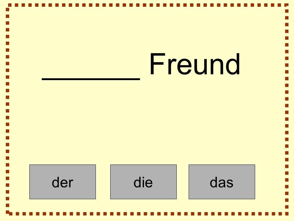 derdiedas ______ Freund
