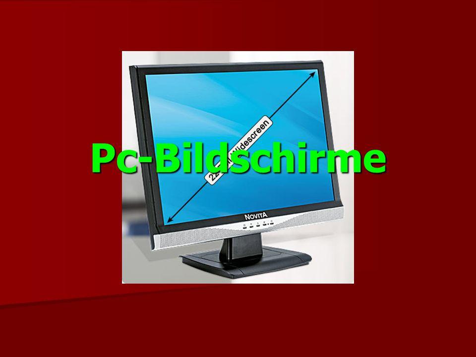 Geschichte In den 50er Jahren erstmals verwendet In den 80er Jahren wurde zunehmend die graphische Darstellung verwendet In den 80er Jahren wurde zunehmend die graphische Darstellung verwendet In jüngster Zeit eroberten die LCD Bildschirme den Markt In jüngster Zeit eroberten die LCD Bildschirme den Markt Seit 2001 gibt es Bildschirme die in 3D darstellen können Seit 2001 gibt es Bildschirme die in 3D darstellen können