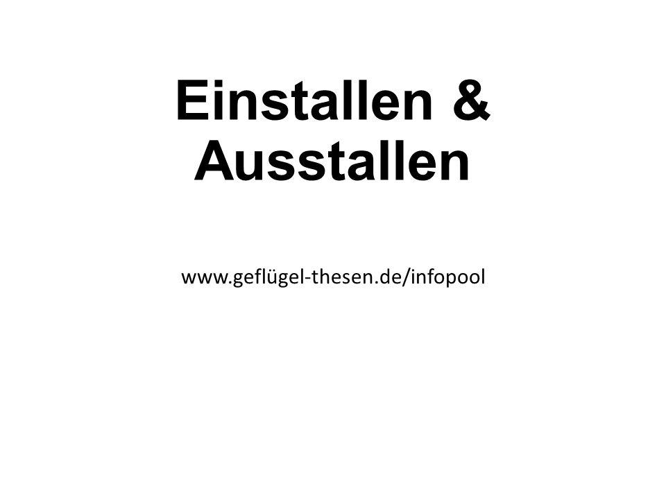 Einstallen & Ausstallen www.geflügel-thesen.de/infopool