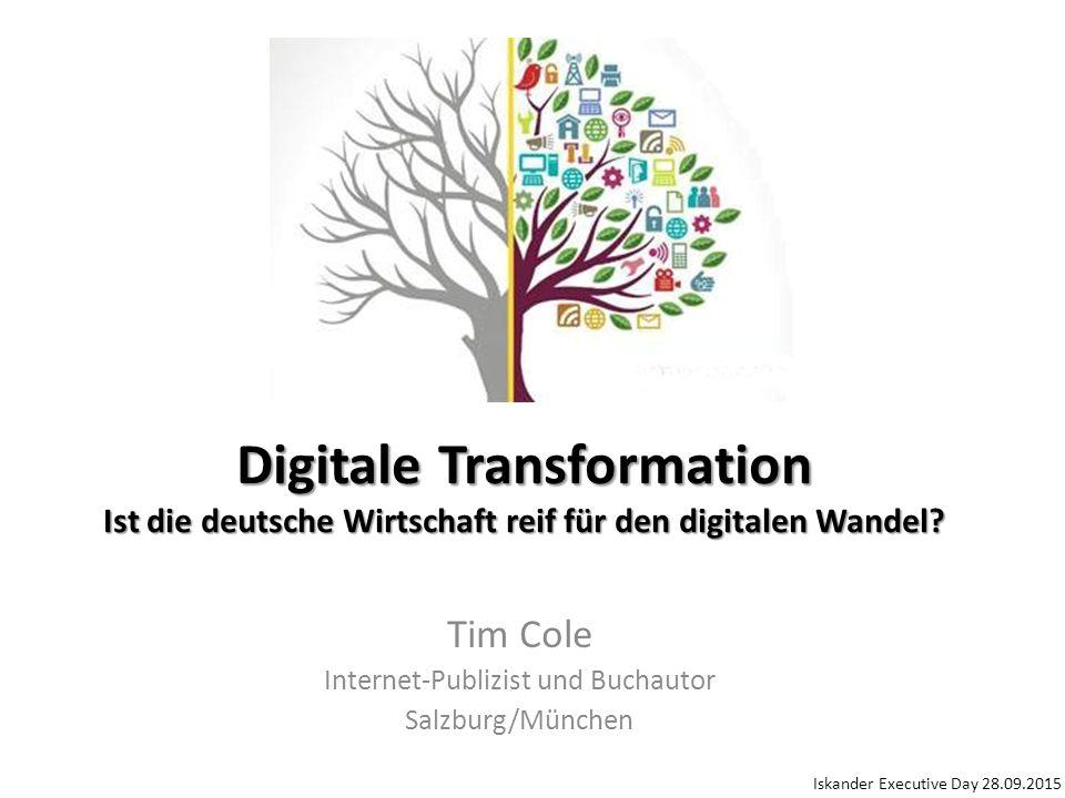""""""" Die Zukunft des Wirtschaftsstandorts Deutschland hängt entscheidend davon ab, wie zügig und gut es gelingt, die klassische Produktion zu digitalisieren und neue Geschäftsmodelle zu entwickeln."""