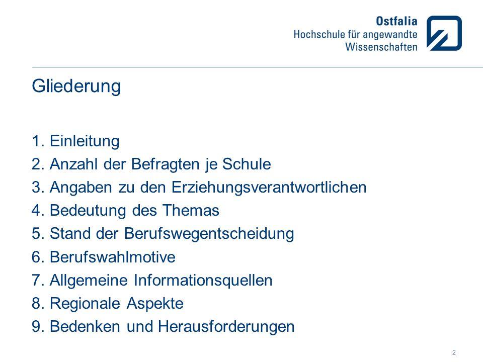 5.Stand der Berufswegentscheidung Ranking der Berufsbereiche GymnasienBBSRealschule 1.
