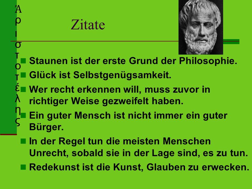 Zitate Staunen ist der erste Grund der Philosophie.