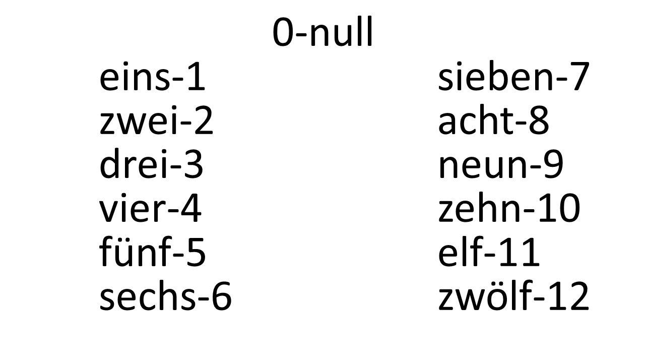 0-null eins-1sieben-7 zwei-2acht-8 drei-3neun-9 vier-4zehn-10 fünf-5elf-11 sechs-6zwölf-12