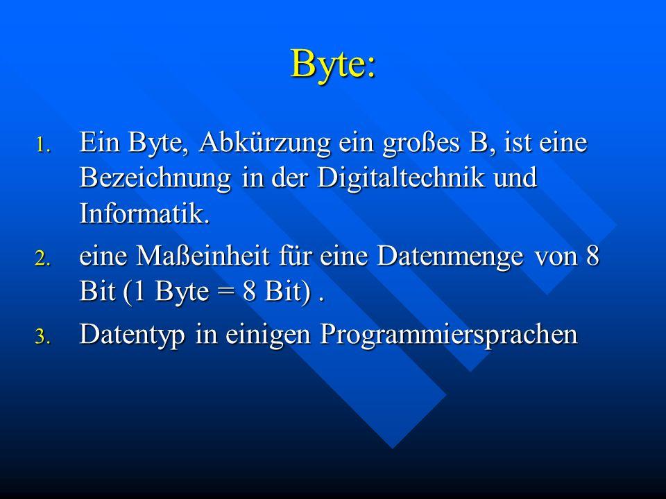 Byte: 1.
