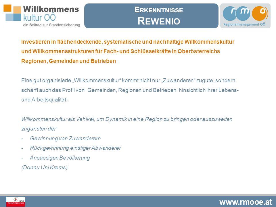 www.rmooe.at Was ist relevant für eine gelungene Willkommenskultur Sensibilisierte und qualifizierte Schlüsselpersonen (interkulturelle Trainings, Sprachkurse, etc.