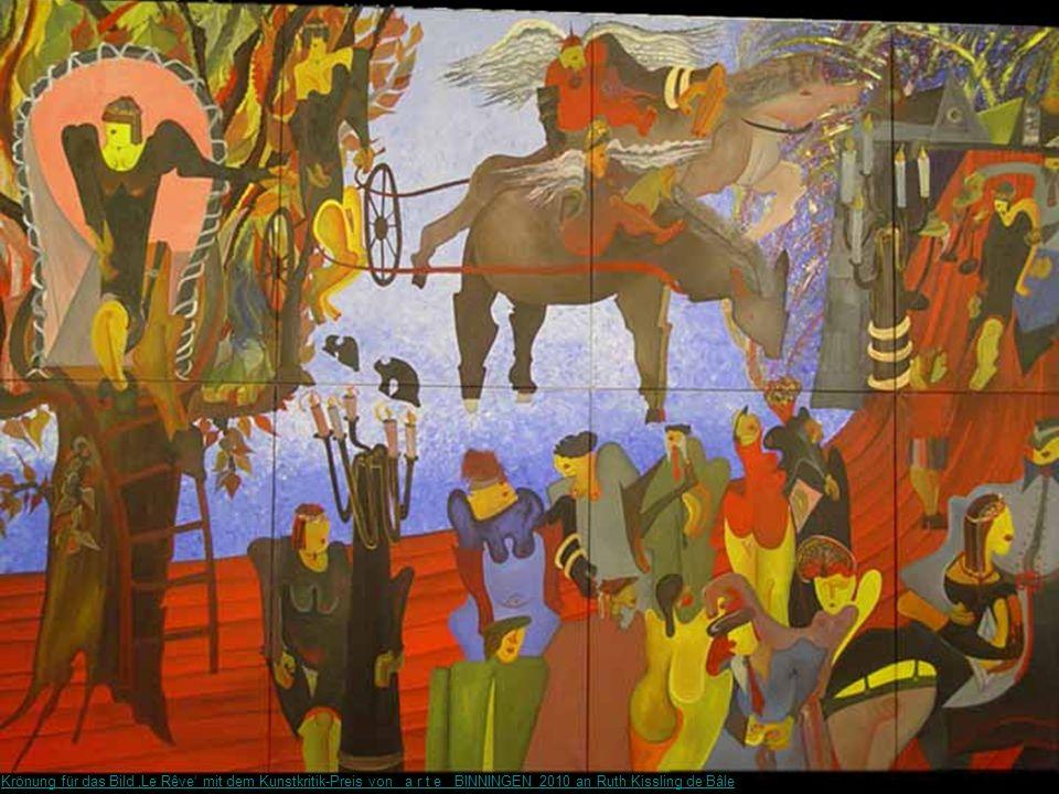 Krönung für das Bild 'Le Rêve' mit dem Kunstkritik-Preis von a r t e BINNINGEN 2010 an Ruth Kissling de Bâle