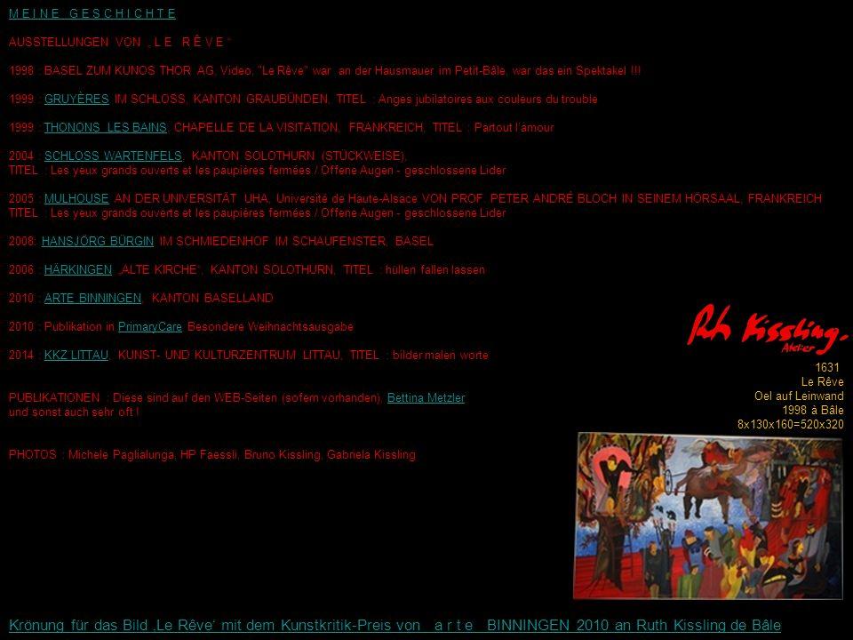 """M E I N E G E S C H I C H T E AUSSTELLUNGEN VON """" L E R Ê V E 1998 : BASEL ZUM KUNOS THOR AG, Video, Le Rêve war an der Hausmauer im Petit-Bâle, war das ein Spektakel !!."""