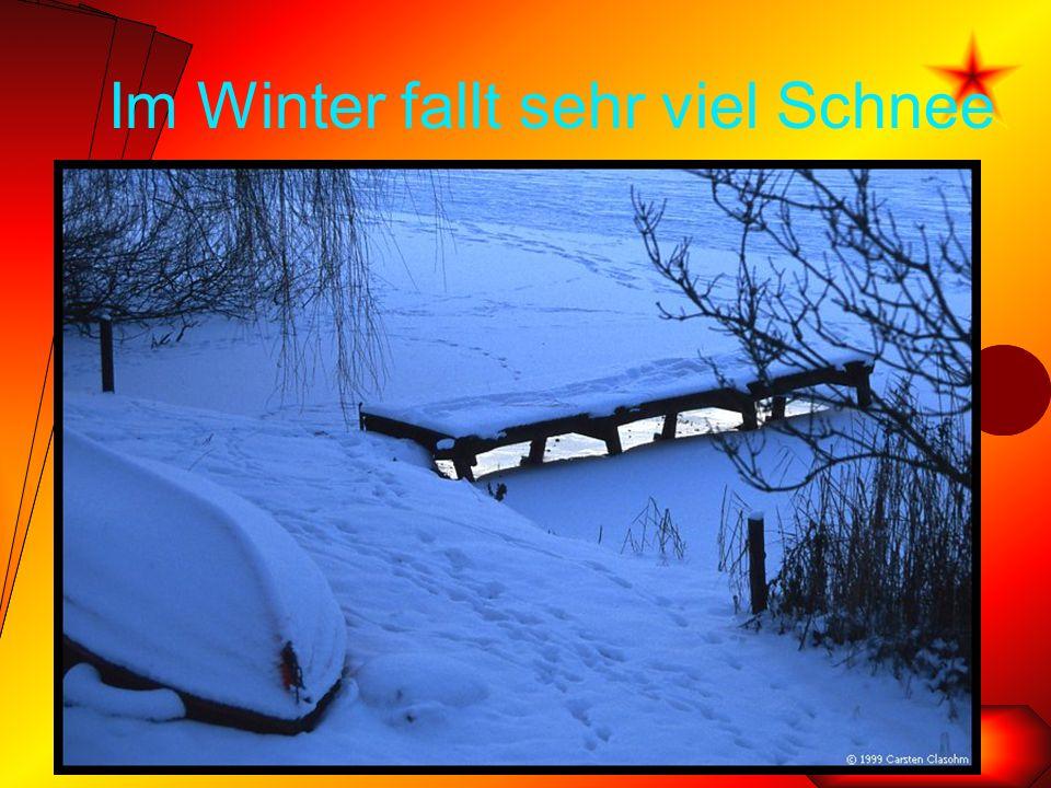 Im Winter fallt sehr viel Schnee