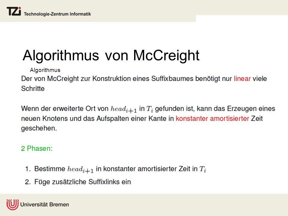 Algorithmus von McCreight Algorithmus