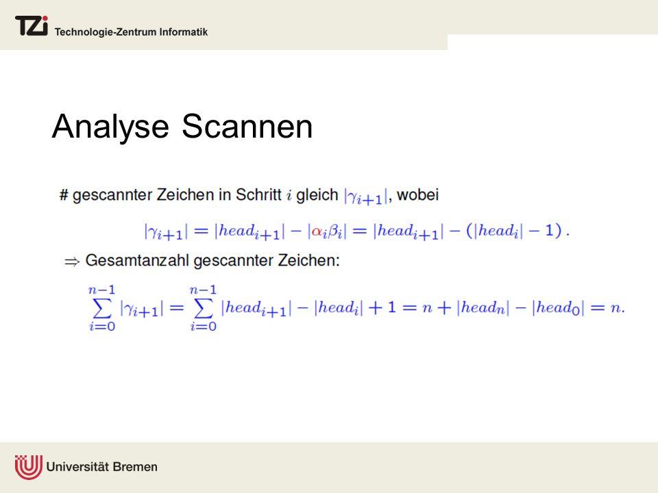 Analyse Scannen