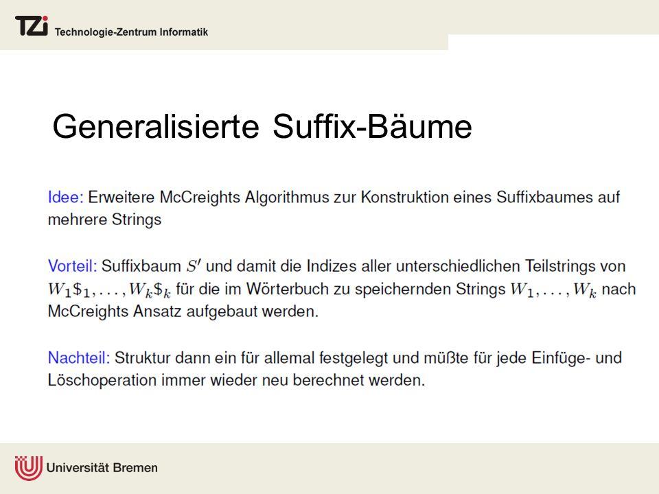 Generalisierte Suffix-Bäume