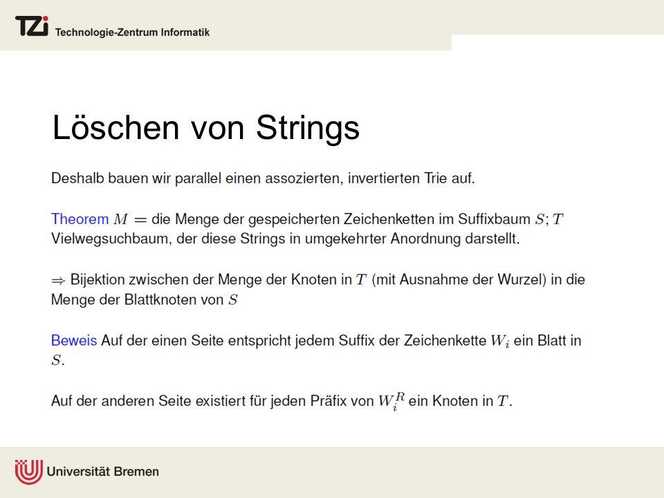 Löschen von Strings