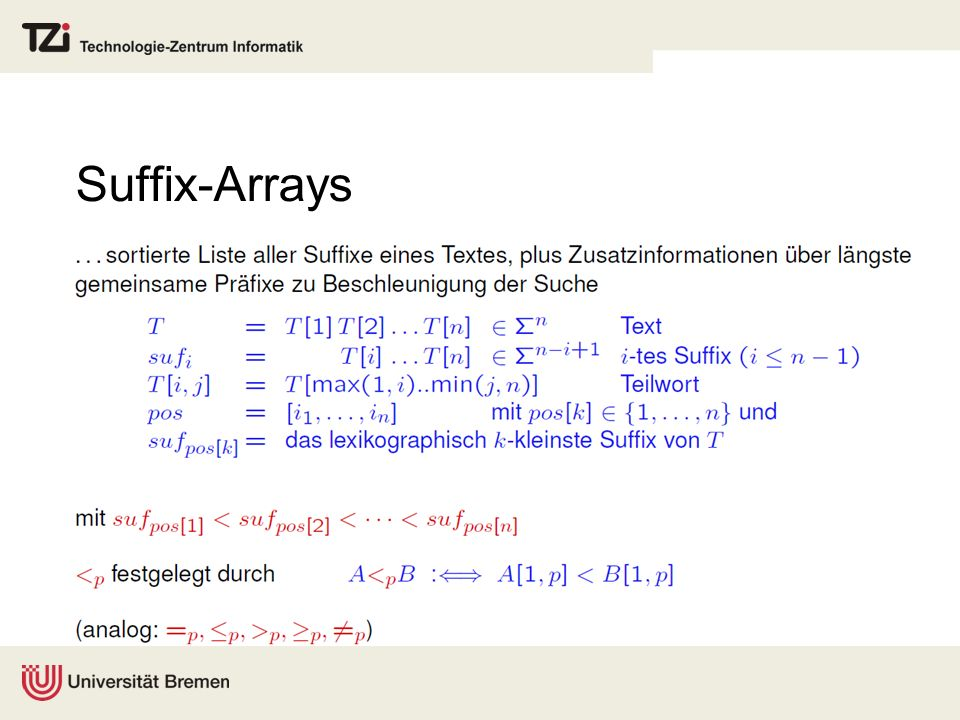 Suffix-Arrays