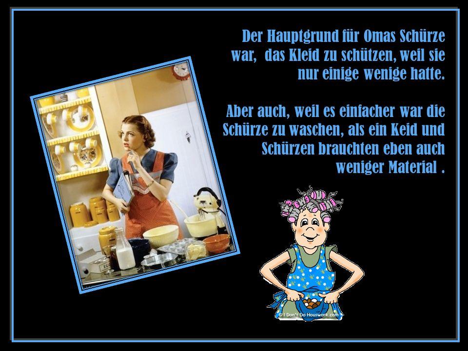 Originaltext: The history of aprons - Autor unbekannt Musik: André Rieu – You raise me up Bilder: Pinterest EXIT