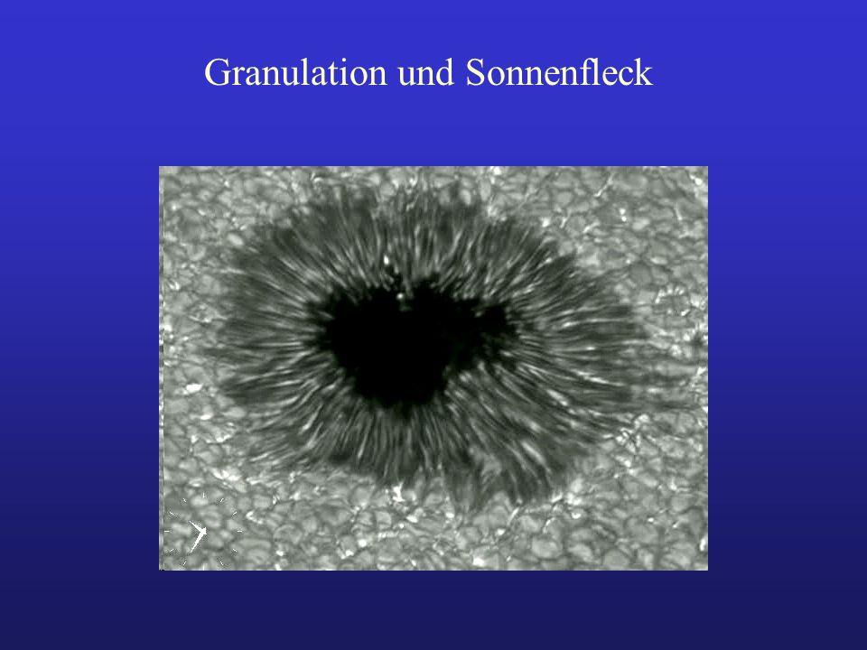 Granulation und Sonnenfleck