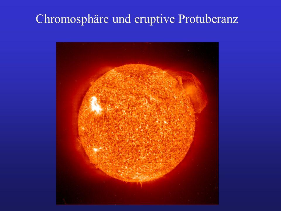Chromosphäre und eruptive Protuberanz