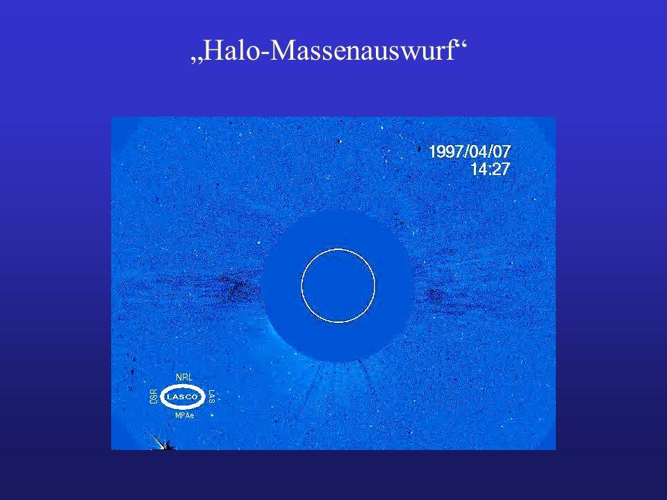 """Halo-Massenauswurf"