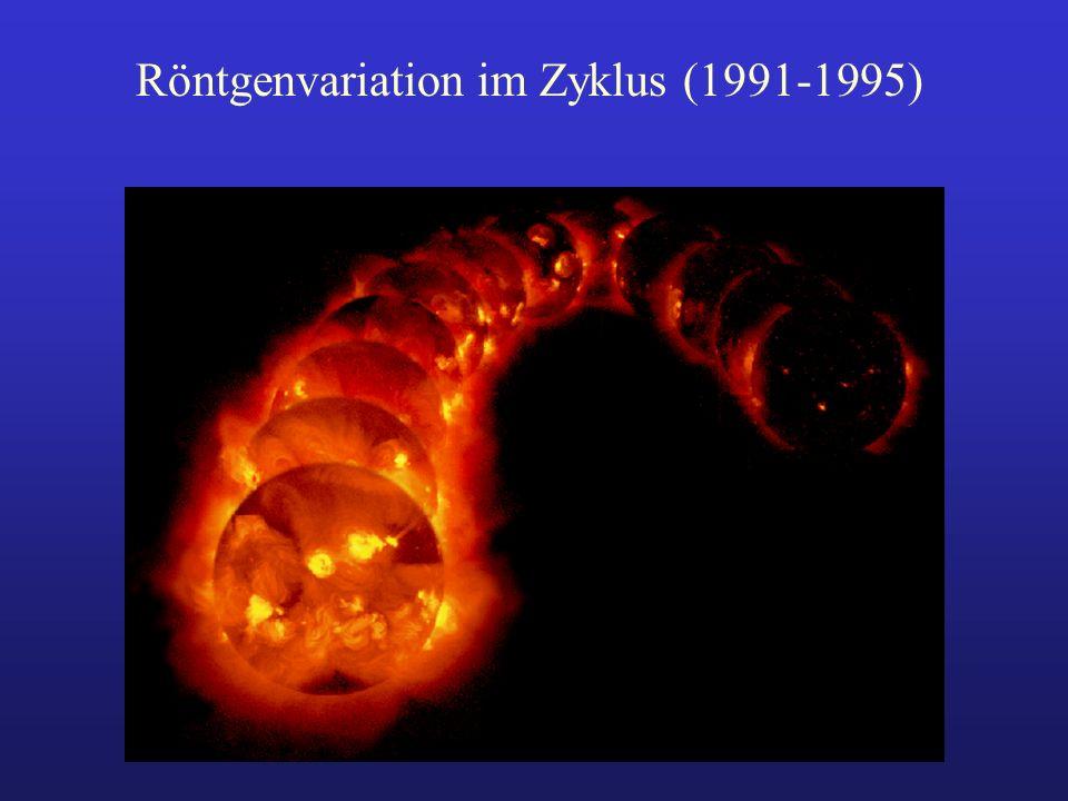 Röntgenvariation im Zyklus (1991-1995)