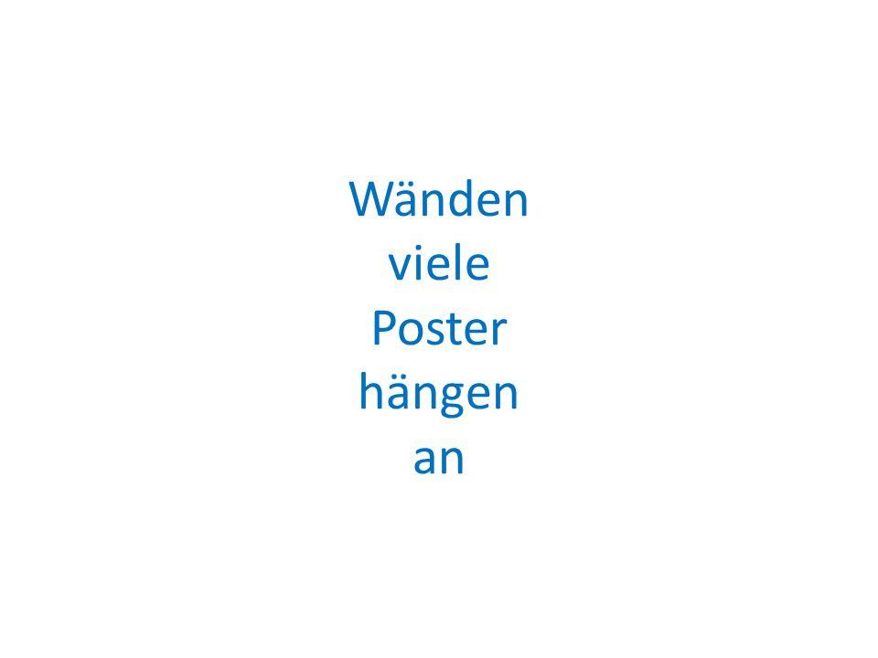 Wänden viele Poster hängen an