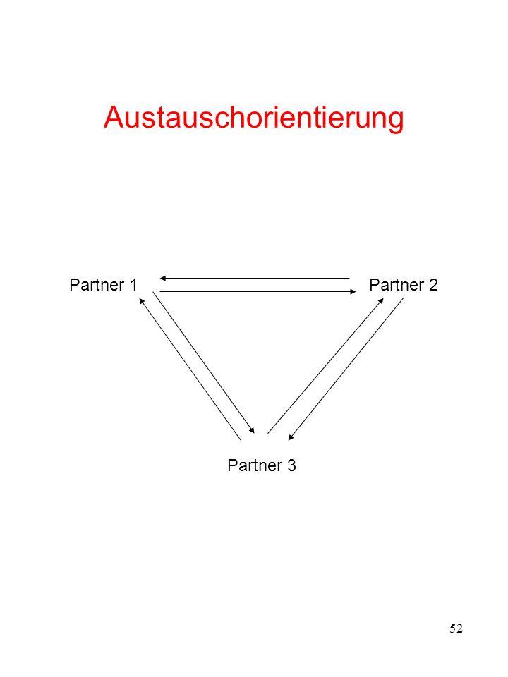 52 Austauschorientierung Partner 1Partner 2 Partner 3