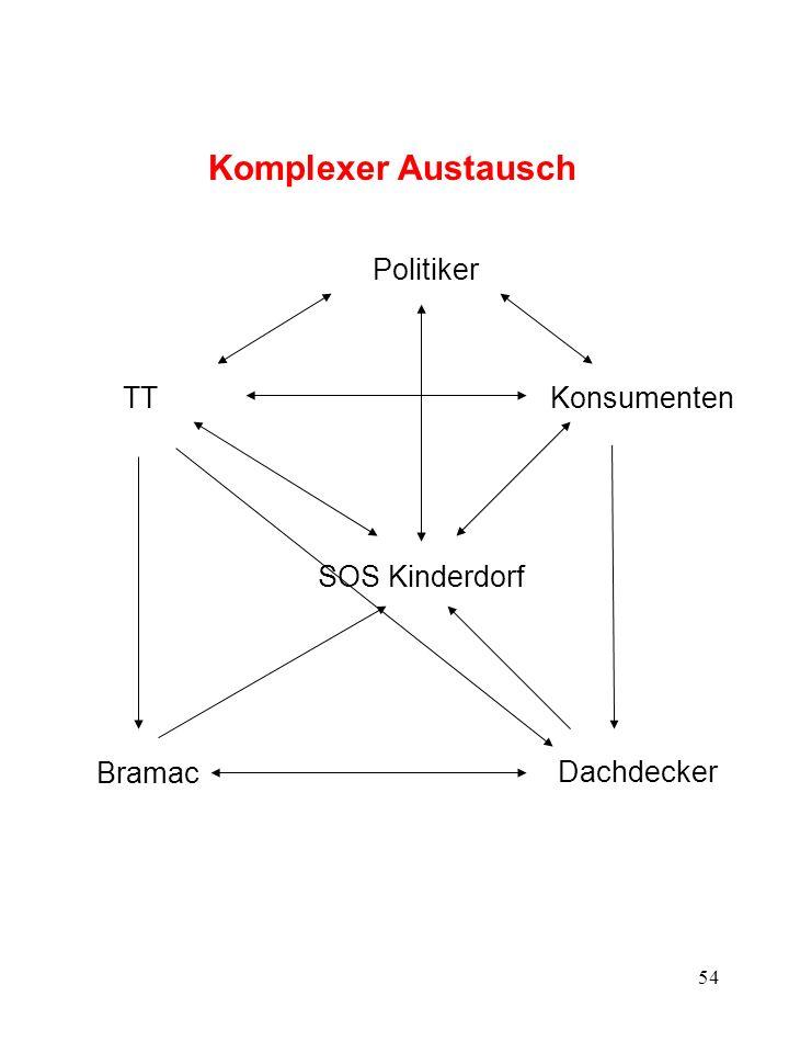 54 Komplexer Austausch SOS Kinderdorf TT Bramac Konsumenten Dachdecker Politiker