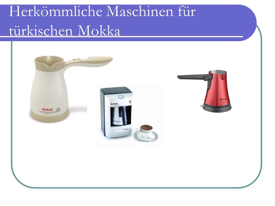 Herkömmliche Maschinen für türkischen Mokka