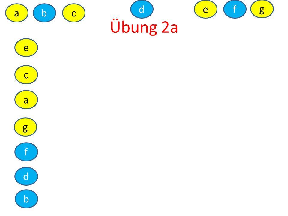 Übung 2a abc de a b c d e f g f g